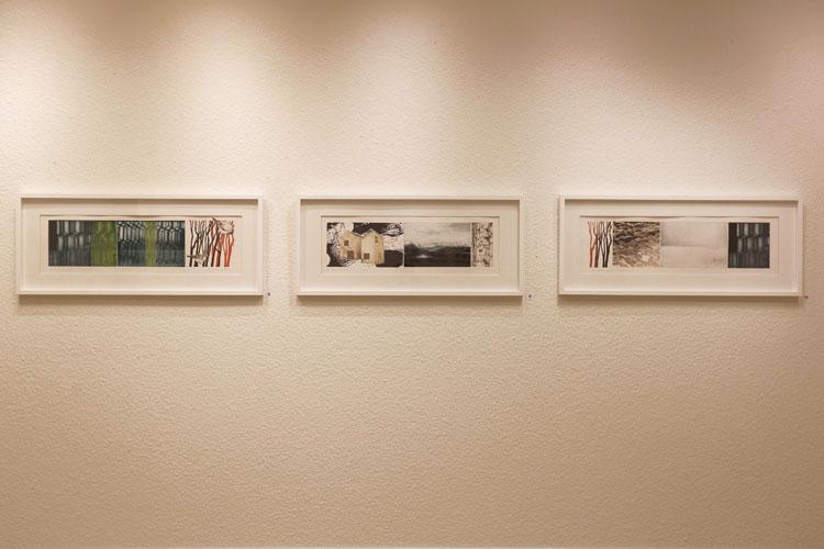 Catharina Warmes konstverk Islandica 1,2 och 3 i Köpings konsthall 2020.