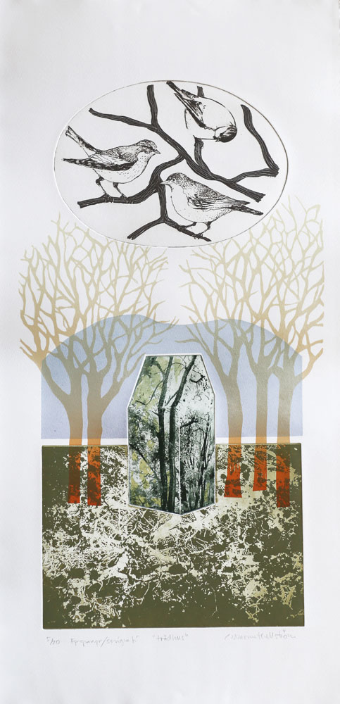 Tree House - Photogravure/Serigraph by Catharina Warme Hellström.