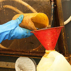 Ferric chloride solution is disposed and recycled.