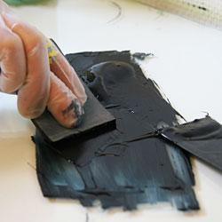 Beredning av tryckfärg för djuptryck.