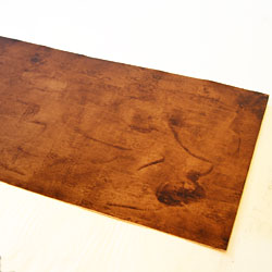 The copper plate is prepared for drawing. Asphalt is a hard ground, and drawing on it in the printing process, will result in the appearance of lines of ink.