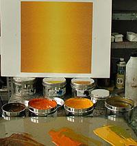 Färgerna som ger en vacker färgton samt färgövergång.