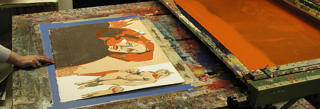 The Process of Making a Silk-Screen Print (Serigraph)
