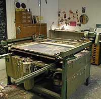 The printing press.