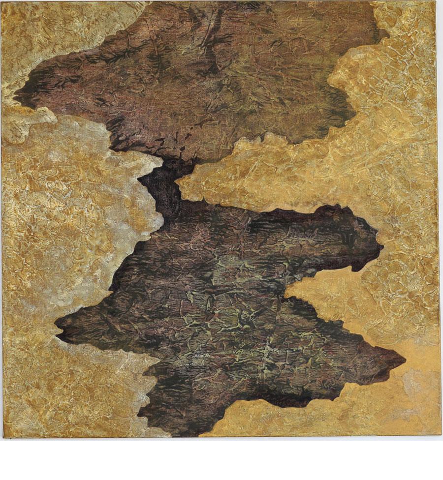 """Kjell Andersons målning """"Eldorado"""" 2017-18, akryl på duk 107x107 cm"""