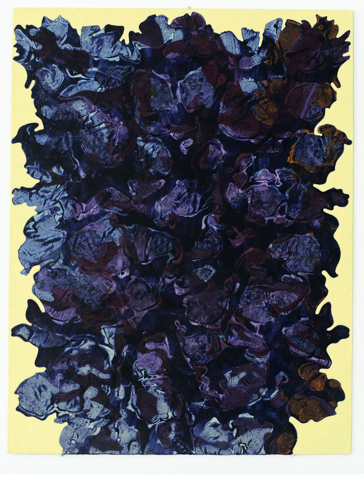 "Kjell Andersons målning ""eManon"" 2018, akryl på pannå 42x32 cm."