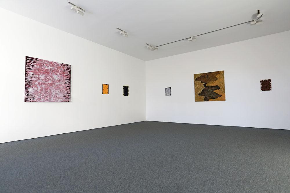 Överblick vänster - Kjell Andersons utställning på Galleri Gunnar Olsson 2019.