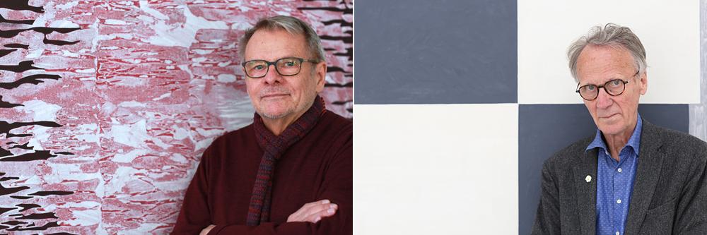 Kvartalets konstnärer våren 2021 - Kjell Anderson och Kjell Strandqvist.