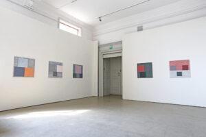 Fem målningar av Kjell Strandqvist 2019.