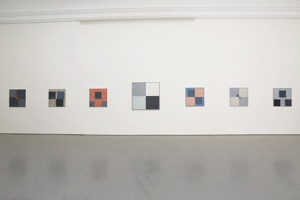 Sju målningar av Kjell Strandqvist 2019 på Konstakademien.