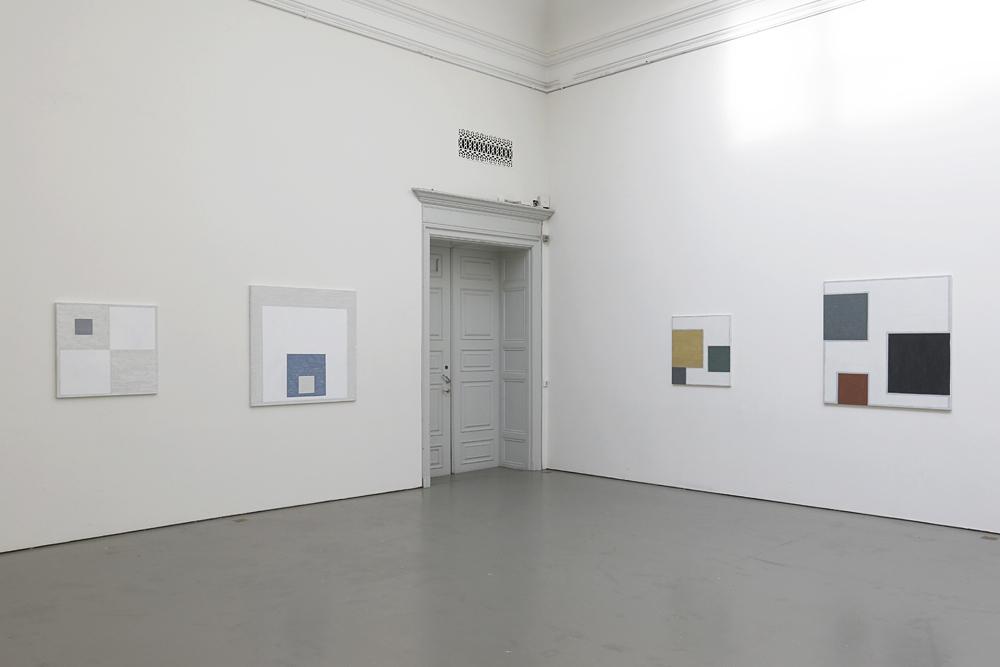 Fyra målningar av Kjell Strandqvist 2019 på Konstakademien.