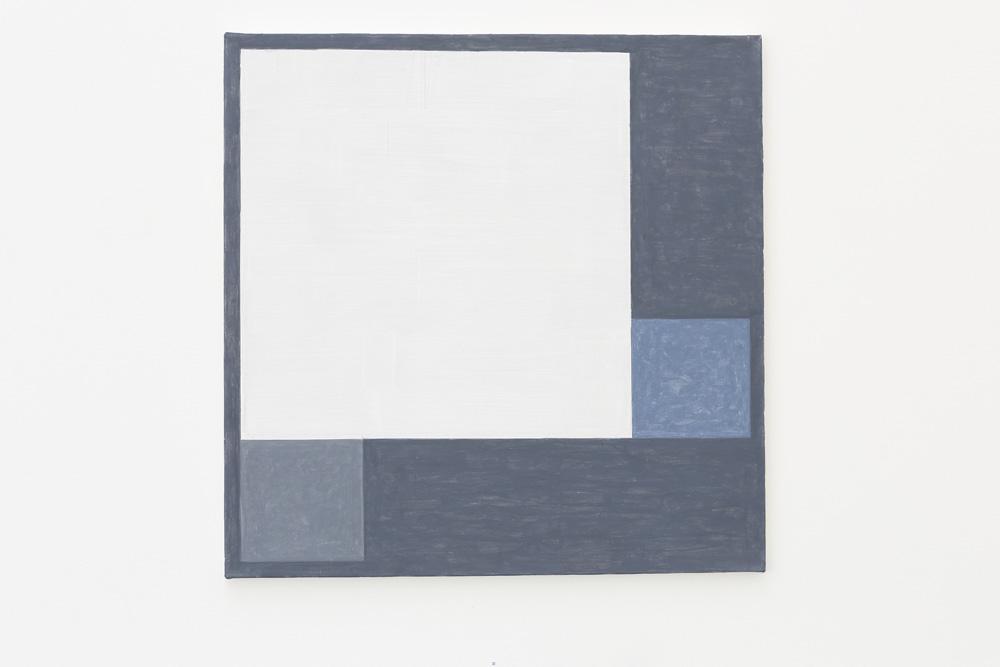 Kjell Strandqvists målning 10, akryl på smärting.