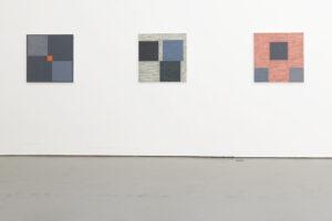 Kjell Strandqvist´s paintings number 11-13, acrylic.