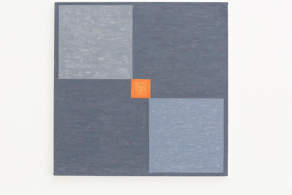 Kjell Strandqvists målning 11, akryl på smärting.