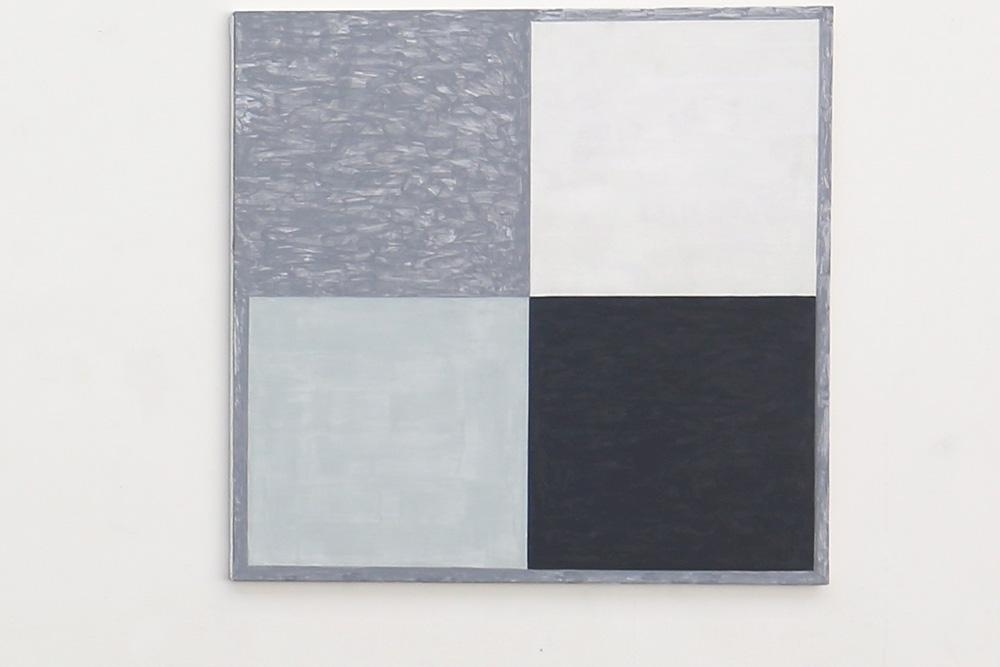 Kjell Strandqvists målning 14, akryl på smärting.