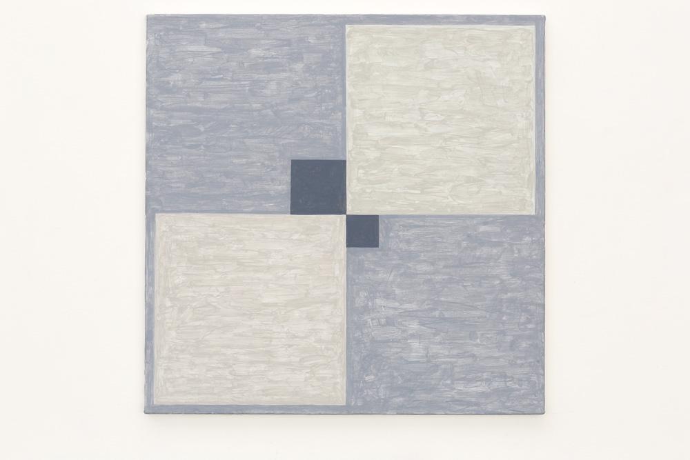 Kjell Strandqvists målning 16, akryl på smärting.