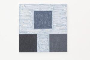 Kjell Strandqvists målning 17, akryl på smärting.
