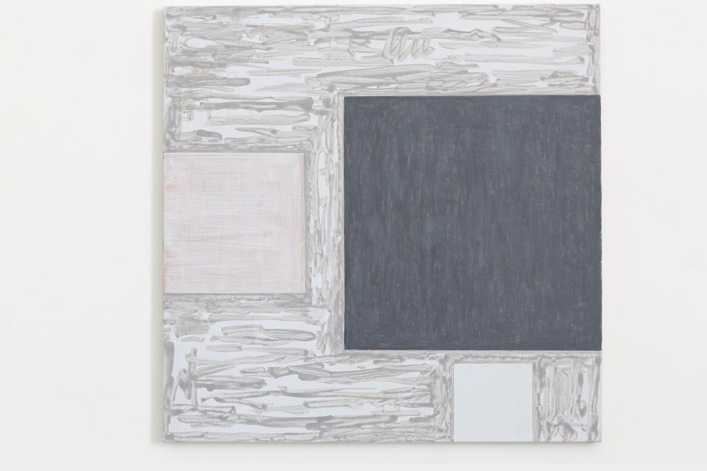 Kjell Strandqvists målning 21, akryl på smärting.