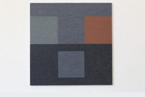 Kjell Strandqvists målning 22, akryl på smärting.