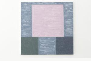 Kjell Strandqvists målning 28, akryl på smärting.