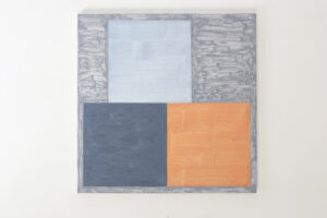 Kjell Strandqvists målning 30, akryl på smärting.