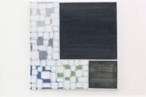 Kjell Strandqvists målning 32 i akryl.