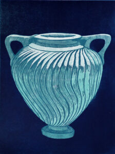 The Pot - Woodcut by Peter Ern.