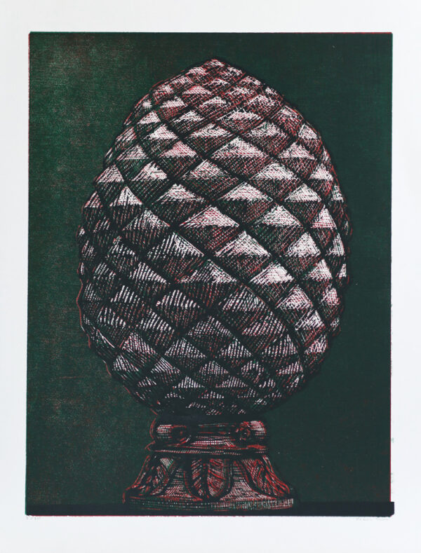 Träsnitt Kotte av Peter Ern.