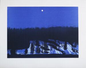Landscape - Linoleum cut by Peter Ern.