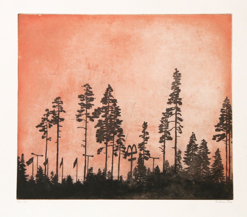 M - Aquatint Etching by Peter Ern.