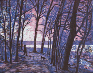 Morning - Woodcut by Peter Ern.