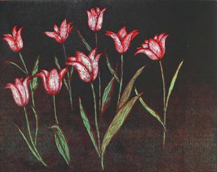 Röda tulpaner av Peter Ern.