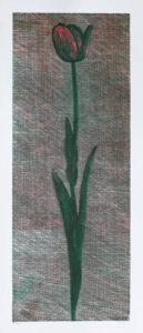 Träsnitt Tulpan av Peter Ern.