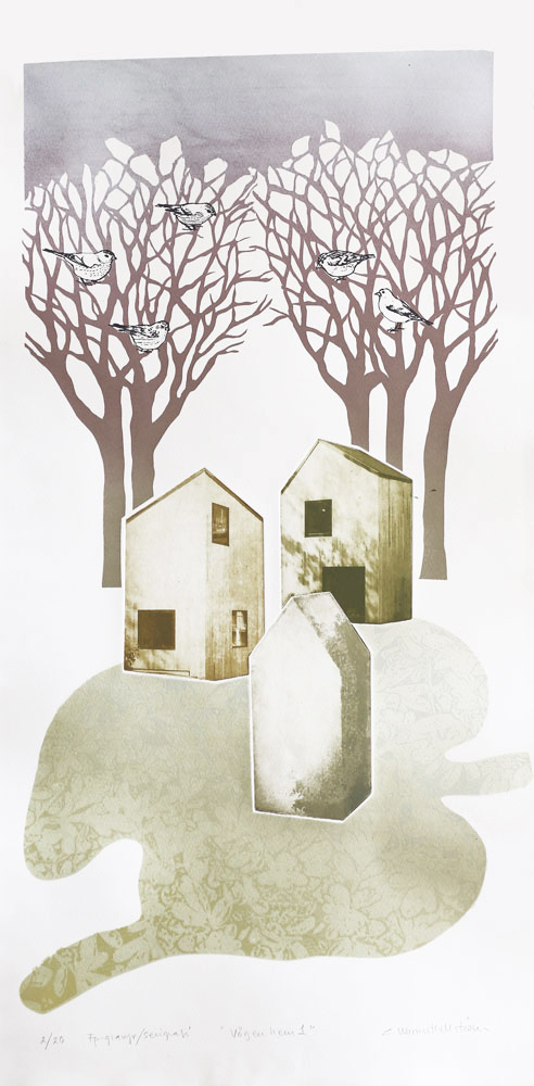 The Way Home 1 - Photogravure/Serigraph by Catharina Warme Hellström.