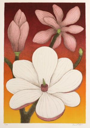 Litografi Magnolia av Maria Hillfon.