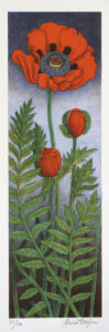 Poppy - Lithograph by Maria Hillfon.