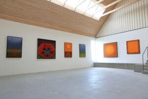 Maria Hillfons utställningsrum 1, byggt 201X - vy höger/bakåt sett från entrén.