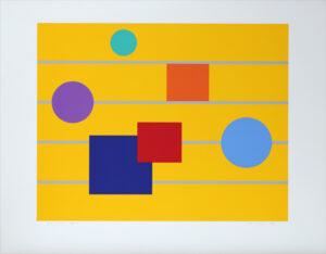 Score in Yellow - Silk-Screen by KG Nilson.