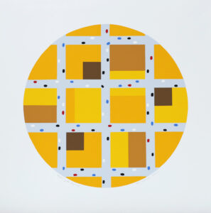 City in Yellow - Silk-Screen by KG Nilson.