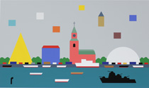 Giclée Waterfront by KG Nilson