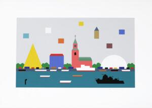 Giclée Waterfront av KG Nilson