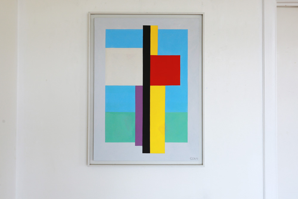 C Göran Karlsson's painting An Angel in the Room, tempera on canvas - number 1.
