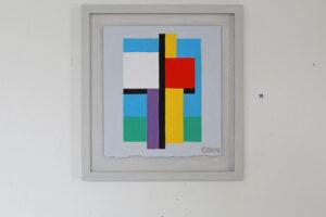 C Göran Karlssons målning En ängel i rummet, tempera på papper - nummer 10.
