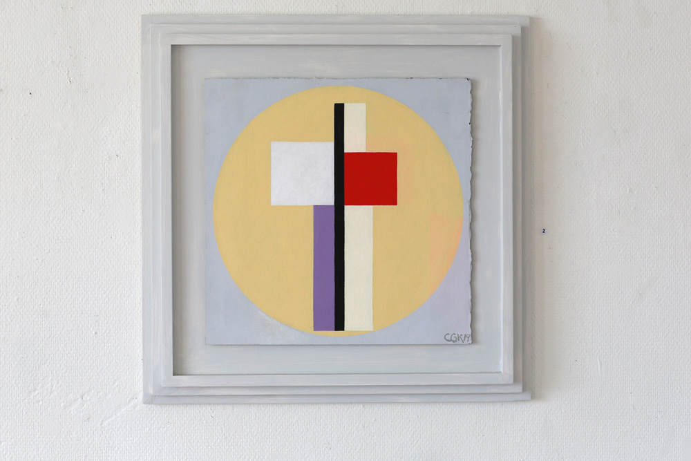 C Göran Karlsson's painting An Angel in the Room, tempera on paper - number 2.