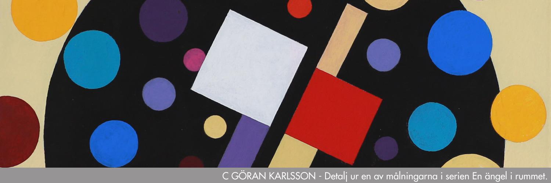 C Göran Karlsson - Detalj ur en av målningarna i serien En ängel i rummet. Kvartalets konstnär 2021.