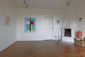 C Göran Karlssons målningar i rum 1, Sigtuna Kulturgård.