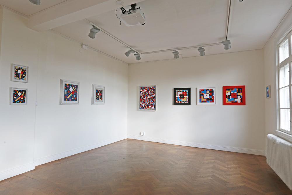 C Göran Karlsson's paintings in the inner room - number 17-23.