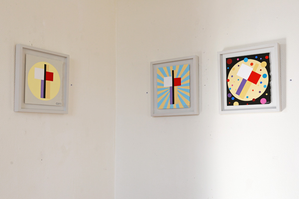 C Göran Karlsson's paintings number 25-27 (from right to left).
